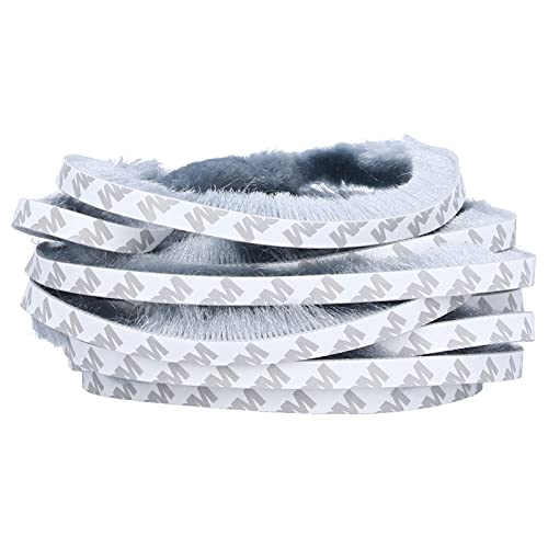 Yosoo123 3M Burlete de Silicona ecológico Cepillo de Silicona Tiras de Juntas de Sellado Autoadhesivas A Prueba de Viento A Prueba de Polvo A Prueba de Agua para Ventanas y Puertas