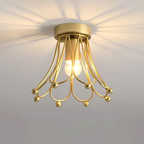 QJUZO LED Lámpara de Techo Pasillo, Diseño de Corona Creativo Lámpara de Pasillo E27 Plafón de Techo Moderna Para Sala de Estar Niños Cocina Balcón Iluminación de Techo Interior, 20 CM,B