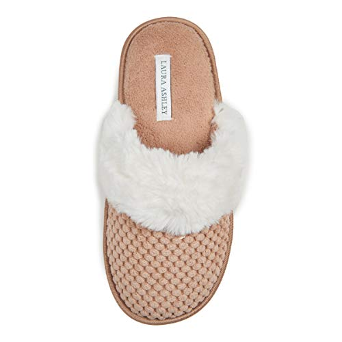 Laura Ashley Ladies Spa Texture Scuff Slippers