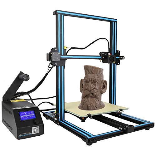 ZIHENGUO Imprimante 3D CR-10, Kits d'impression Bricolage pour débutants avec lit Chauffant, Volume de Construction 300X300X400mm et lit en Verre Chauffant,Blue