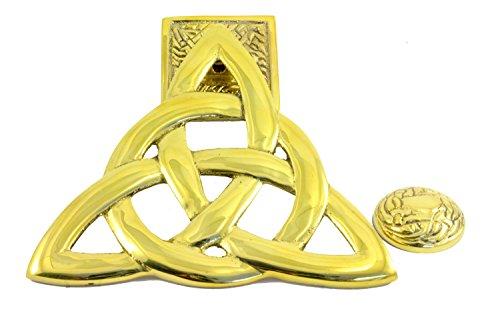 Irish Brass Trinity Knot Door Knocker in a Matching Box by Robert Emmets
