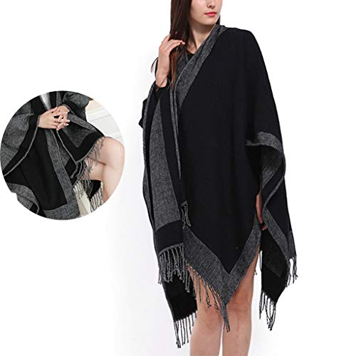 PET CLOTHES Winter Blanket Scarf Shawls Womens Soft Scarf Blanket Shawls Wrap Stole with Tassel Evening Dresses Women Scarves Shawls Best Gift,A,128x175CM