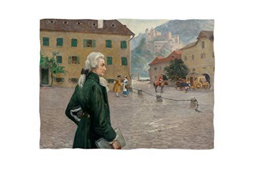 fotobar!style Fleecedecke ca. 180 x 135 cm Otto Robert Nowak - Der Junge Mozart in Salzburg.