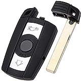 Cguard - Carcasa para llave de mando a distancia para BMW 1, 3, 5, 6, 7, E90, E92, E93, 318, 320,...