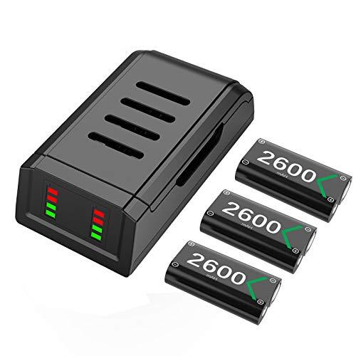 Batería de Controlador para Xbox One Series X S, Mando Cargador 3x...