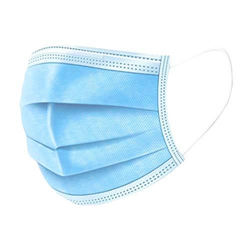 Gesichtsmasken – Einmalgebrauch Disposable Face Masks | Staubschutz Atemschutz Mundschutz | 3-lagig Dreischichtig | 50 Masken pro Beutel Hellbau – Modell Q/QZHF 022 2020 Typ YY/T0969