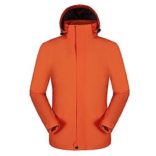 TIEON Outdoor-Bergsteigen, Männer und Frauen, wasserdichte Jacke, Trennung von Regenjacke, wasserdichtes warmes Wandern orange-L