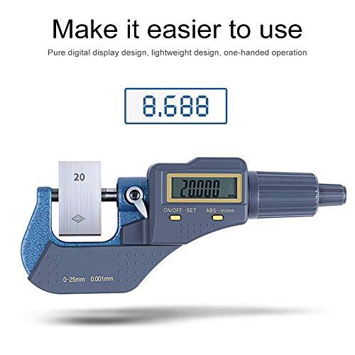 Micrómetro digital 0-25/25-50/50-75/75-100 mm 0,001 mm métrico/pulgada micrómetro electrónico externo con punta de carburo herramientas de medición