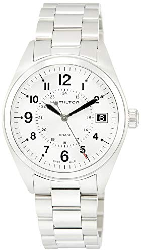 Hamilton Herren Analog Quarz Uhr mit Edelstahl Armband H68551153