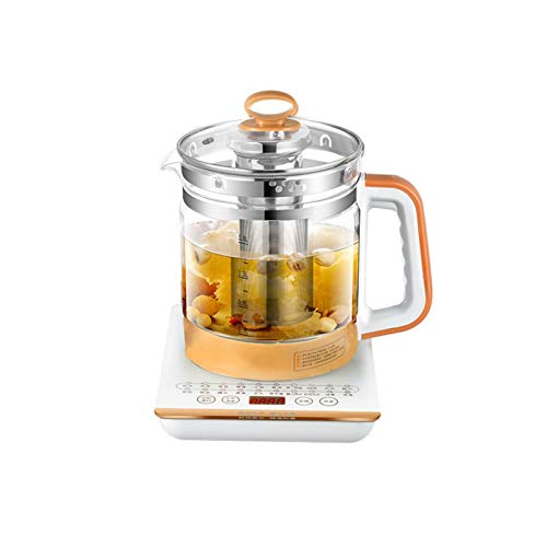 QCSJ Health-preserving electric kettle with heat preservation integrated transparent automatic kettle tea maker pot small household glass teapot (Color : Gold)