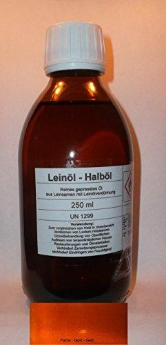 250 ml Hochwertiges Leinölfirnis, Halböl, Grundieröl, Leinöl Terpentinöl Basis