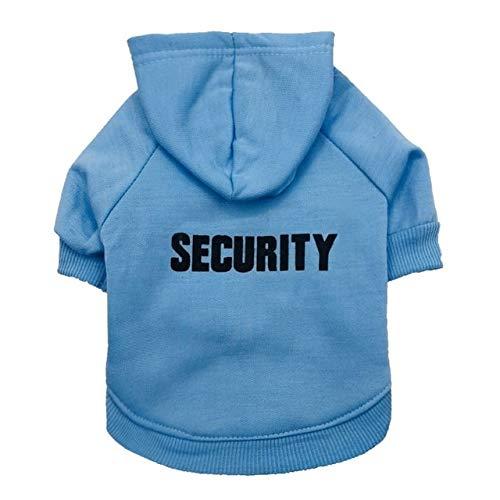 WuqiAng Escudo con Capucha de Verano Deportes del Perro Gatito suéter de la Ropa del Perro casero Chaleco de la Camiseta, tamaño: XS (Color : Light Blue)