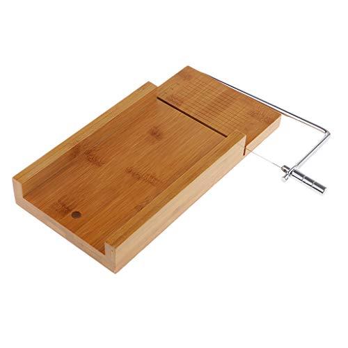 IPOTCH Holz-Edelstahl Holz Seifenschneider Seife Cutter Kit Beveler Hobel