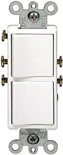 Leviton R02-5634-W Two Single-pole Switches