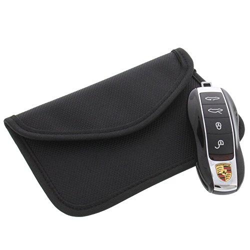 foto-kontor Strahlenschutz Tasche für Keyless Schlüssel Entry Open Go Diebstahl Schutz kein Signal Abfangen XL