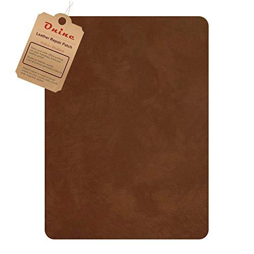 Leder--Flicken, selbstklebend, für Couch, mehrfarbig, kratzfestes Leder, 20,3 x 27,9 cm, zum Abziehen und Aufkleben für Sofas, Autositze, Handtaschen, Jacken (unregelmäßiges Muster, Karamellbraun)