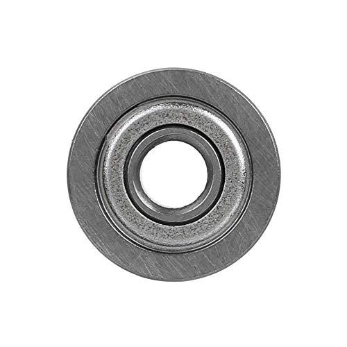 Rockyin 10pcs U604ZZ 13 * 4 * 4 mm V-Nut Sealed Führungsrolle Schienenstahl Führungslager