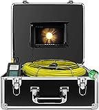 HBUDS Cámara de Tubería, Cámara de Inspección de Tubería 20M Endoscopio Industrial de Desagüe a Prueba de Agua IP68 Video Boroscopio de Fontanero Cámara de Alcantarilla Profesional (sin Función DVR)