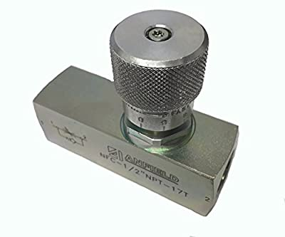 """Flow Control Needle Valve 1/2"""" NPT from Anfield"""