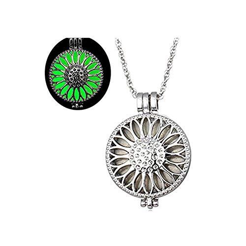 one jewerly Flower - Collar Luminoso de Color Verde