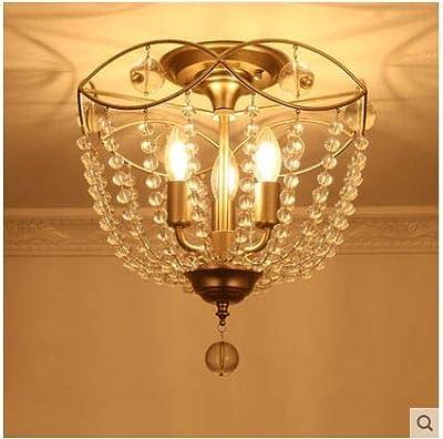 Dormitorio americano lámpara de techo de cristal estudio ...