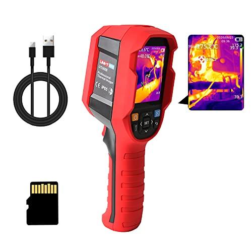 "UNI-T UTi260B Thermal Camera Imager 49152Pixels 256x192 IR Resolution Handheld Infrared Camera Thermal Imaging IP65 2 Meter Drop Durability Rechargeable 7 Palettes 2.8"" LCD Display Screen 16GB MicroSD"