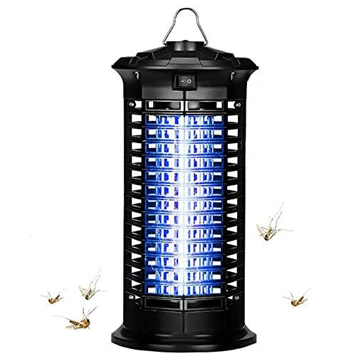 Joyhoop Lampara Antimosquitos, LED Mosquitos Electrico con Interruptor y Gancho, 1800V Potencia de Alto Voltaje Area Efectiva 60m² para Matar Mosquitos, Moscas, Polillas.(con Cepillo Limpieza)