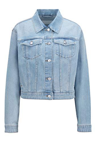 BOSS Denim Jacket 1.0 10230642 01 Chaqueta Vaquera, Turquoise/Aqua449, 42 para Mujer