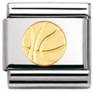 Nomination Composable Classic Sport Edelstahl und 18K-Gold (Basketball-Ball) 030106