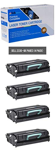 Inksters Compatible Black Toner Cartridge Replacement for Dell 2330 2330D 2330DN 2350 2350D 2350DN - 330-2666 330-2667 - 4 Pack