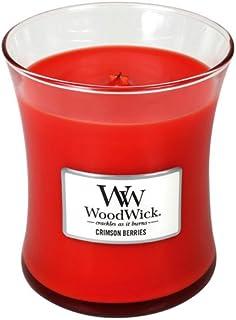 Crimson Berries Medium WoodWick Candle - 300ml