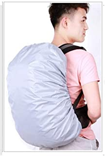 LDUNDUN, 2019 Rain Cover Backpack Camo Military Army Waterproof Bag Outdoor Hunting Travel Foldable Dustproof Case 20L 30L 40L 45L 50L 55L 60L (Color : Silver, Size : 30-40L)
