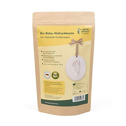 Grünspecht 677-00 Bio-Baby-Abdruckmasse, 1 Dose, Herstellung eines Baby-Hand- oder Fußabdrucks, Nachfüllpack ohne Zubehör