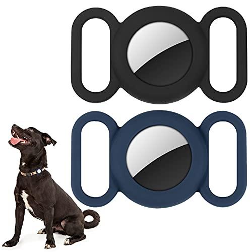 Airtag Hundehalsband,Silikonhülle für GPS Tracking Finder,Schutzhülle Kompatibel mit Apple Airtag,Sicherheit und Anti-Lost