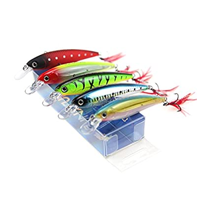 RUNATURE Big Minnow Fishing Lures Topwater Floating Sinking Crankbait Lure Bass Carp Trout Pike Perch Salmon Baits Tackle Deep Diver Hard Sea Fishing Bait with Sharp VMC Steel Trebles Hooks from RUNATURE