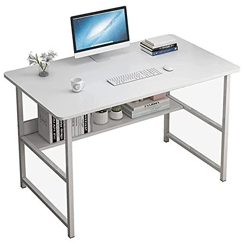 Escritorio de computadora Estación de trabajo de escritura de escritorio de estudio de 39 pulgadas Escritorio para juegos con estante de almacenamiento Mesa moderna y sencilla para ordenador portátil