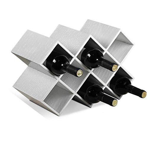 FHKBK Estante de Vino rústico Estante de Vino Estante de Vino Porta Botellas de Madera Maciza Decoración Patrón de cocodrilo Hogar Creativo Moderno Minimalista Sala de Estar Decorativa P