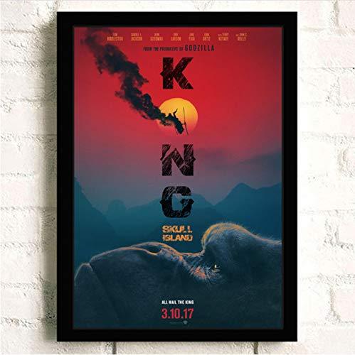 Imprimir En Lienzo King Kong Skull Island Pintura Calidad Reying Decoración Para El Hogar Decoración De Arte Sala De Estar Carteles Arte De La Pared Pintura En Lienzo A217 (40X60Cm) Sin Marco