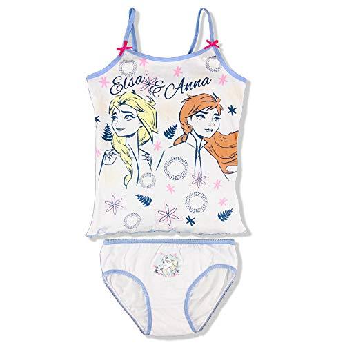 Disney Pijama niña Frozen II completo Top Slip verano algodón estampado 2906 blanco 6-8 años