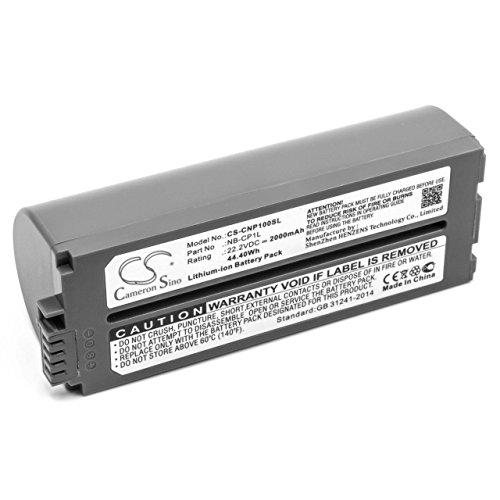 vhbw Li-Ion Akku 2000mAh (22.2V) für Drucker Kopierer Scanner Etiketten-Drucker Canon Selphy CP-770, CP-780, CP-790, CP-800, CP-810, CP-820