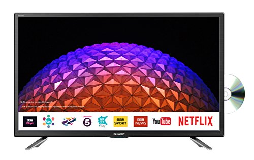 Sharp LC-24DHG6131KF 24 Inch HD Ready LED Freeview Play, Smart TV, Built-In...