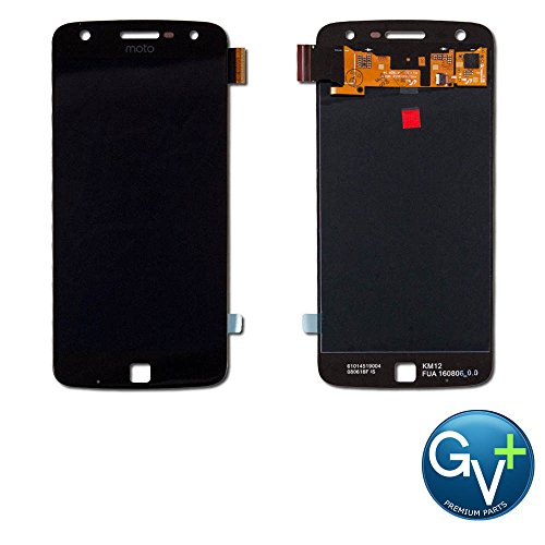 Group Vertical Replacement Screen AMOLED Digitizer Display Assembly Compatible with Motorola Moto Z Play (Black) (XT1635, XT1635-01, XT1635-02, XT1635-03) (GV+ Performance) (2016)