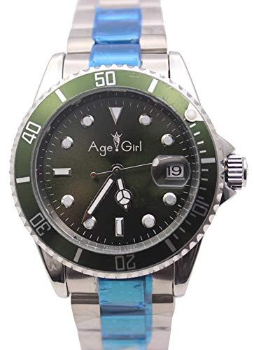Luxury Mens Orologio Sub-Vento Automatico Meccanico da Uomo in Acciaio Inossidabile Dive Wristwatch Oro Nero Argento8