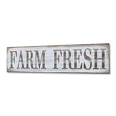 Barnyard Designs Farm Fresh Retro Vintage Tin Bar Sign Country Home Decor 15.75  x 4