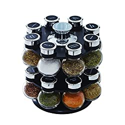 top 10 kitchen spice sets Kamenstein 5123721 Ellington, 16 bottles, rotary spice lid, organizer with free spices …