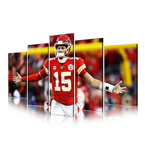 NFL Super Bowl Kansas City Chiefs Leinwanddrucke Poster Wohnkultur Fußball-Sport Im Freien Kollektionen (NFL12,Overall 60
