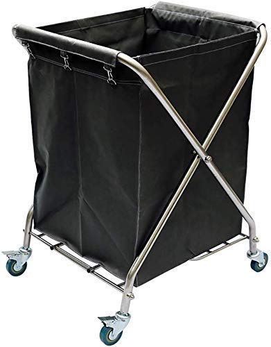 Cart, medische kaart, eetwagen, recoger, Medical trolley Gereedschap-vouwbaar linnen kar met rem wiel, Folding Laundry Sorter wagen, Hotel Collection Rollwagen, Kamerservice wagen, optionele kleur Bl