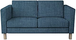 TLYESD Replace Cover for IKEA Karlstad 2 Seat Loveseat Sofa,Polyester Fabric Slipcover
