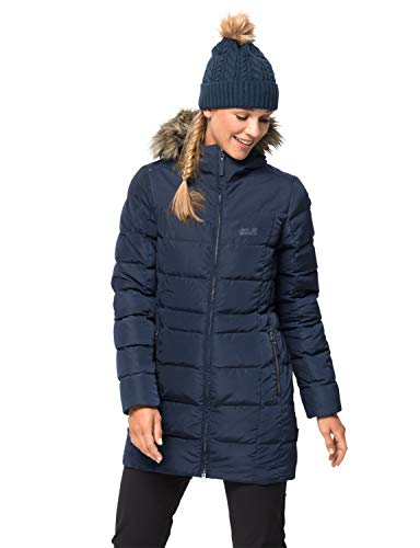 Jack Wolfskin Damen Baffin Island Coat Mantel, Midnight Blue, S
