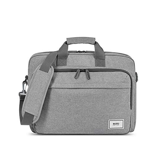 Solo New York Re:New Briefcase, Grey, One Size